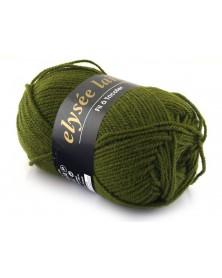 Włóczka Elysee Laine kolor ciemna oliwka 77
