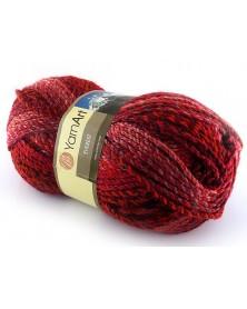 Włóczka Everest kolor 7036 odcienie czerwieni, borda z dodatkiem szarości