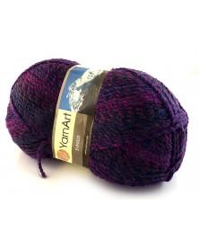 Włóczka Everest kolor 7027 odcienie fioletu, granatu i brązu