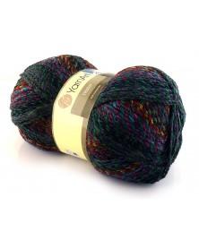 Włóczka Everest kolor 7037 odcienie turkusów, czerwieni, fioletów, garantu, zieleni