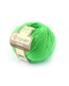 Włoczka Jeans Yarn Art kolor zielony  60