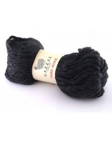 Włóczka Pure Wool Gazzal kolor 5249 czarny z...