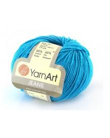 Włoczka Jeans Yarn Art kolor  turkus 55