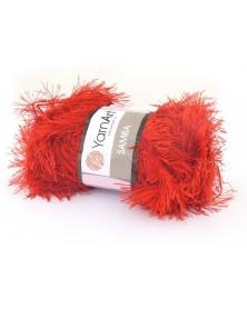 Włóczka Samba kolor czerwony 156