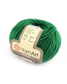 Włoczka Jeans Yarn Art kolor ciemna zieleń 52