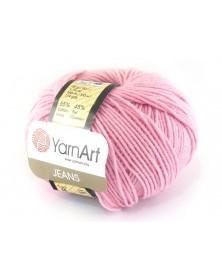 Włoczka Jeans Yarn Art kolor pudrowy różowy 36
