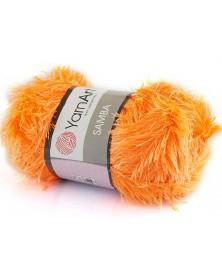 Włóczka Samba kolor neonowy pomarańcz 07