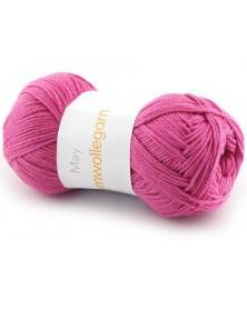 Włóczka Baumwollegarn kolor 79 ciemy różowy
