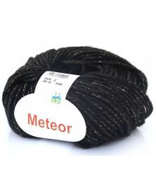 Włóczka Meteor 03 czarny złoto
