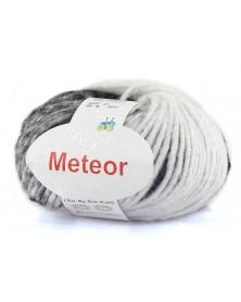 Włóczka Meteor 06 szarości ze srebrną nitką