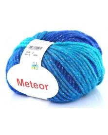 Włóczka Meteor 10 turkusy ze srebrną nitką
