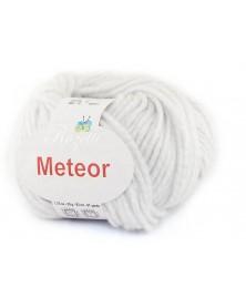 Włóczka Meteor 12 biały ze srebrną nitką