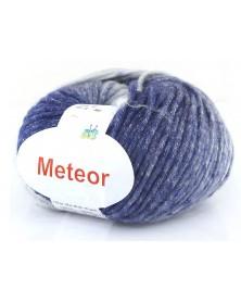 Włóczka Meteor 14 niebieskie ze srebrną nitką