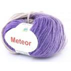 Włóczka Meteor 15 fiolety ze srebrną nitką
