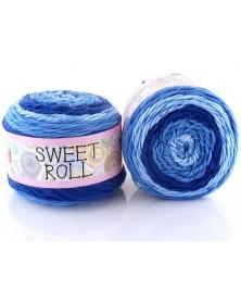 Włóczka Sweet Roll 02 odcienie niebieskiego