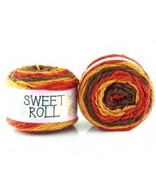Włóczka Sweet Roll 25 BRĄZ Z ODCIENIAMI RUDOŚCI
