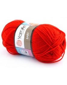 włóczka Baby YarnArt 156 czerwony