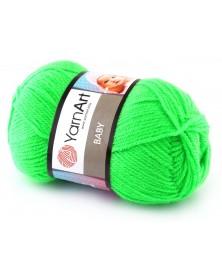 włóczka Baby YarnArt 8233 neonowy zielony