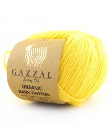 Włóczka Organic Baby Cotton 420 żółty