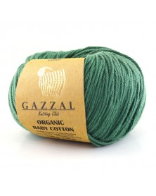Włóczka Organic Baby Cotton 427 ciemny zielony