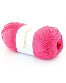Włóczka Baumwollegarn kolor 07 ostry róż