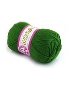Włóczka Dora Kolor brudny zielony 087