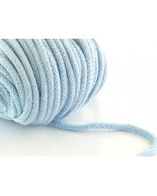 Sznurek bawełniany 5 mm błękitny