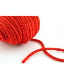 Sznurek bawełniany 5 mm czerwony