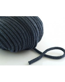 Sznurek bawełniany 5 mm ciemny jeans