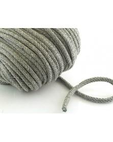 Sznurek bawełniany 5 mm szary