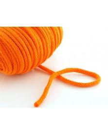 Sznurek bawełniany 5 mm czarny pomarańczowy