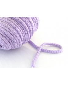 Sznurek bawełniany 5 mm jasny fiolet