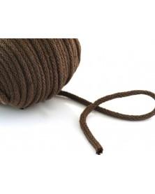 Sznurek bawełniany 5 mm brązowy