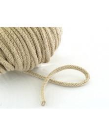 Sznurek bawełniany 5 mm beżowy