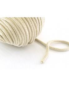 Sznurek bawełniany 5 mm jasny beżowy