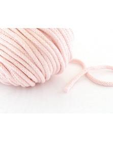 Sznurek bawełniany 5 mm różowy