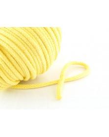 Sznurek bawełniany 5 mm żółty