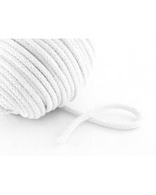 Sznurek bawełniany 5 mm biały