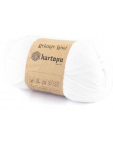 Włóczka Melange Wool kol 010 biały