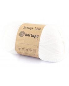 Włóczka Melange Wool kol 025 ciepłe ecru