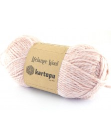 Włóczka Melange Wool kol 135 pudrowy róż