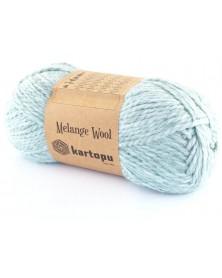 Włóczka Melange Wool kol 480 miętowo niebieski