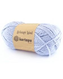 Włóczka Melange Wool kol 632 jasno niebieski