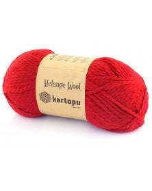 Włóczka Melange Wool kol 2117 czerwony