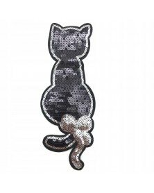 Aplikacja termo kot czarne cekiny