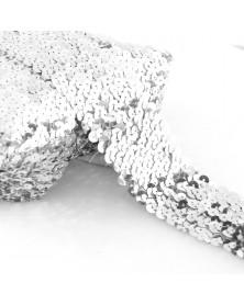 Guma cekinowa srebrna