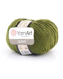 Włoczka Jeans Yarn Art kolor khaki 82