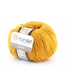 Włoczka Jeans Yarn Art kolor musztarda 84