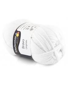Włóczka Bravo kolor biały 8224