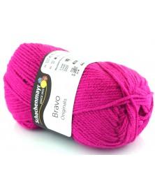 Włóczka Bravo kolor intensywny róż 8350